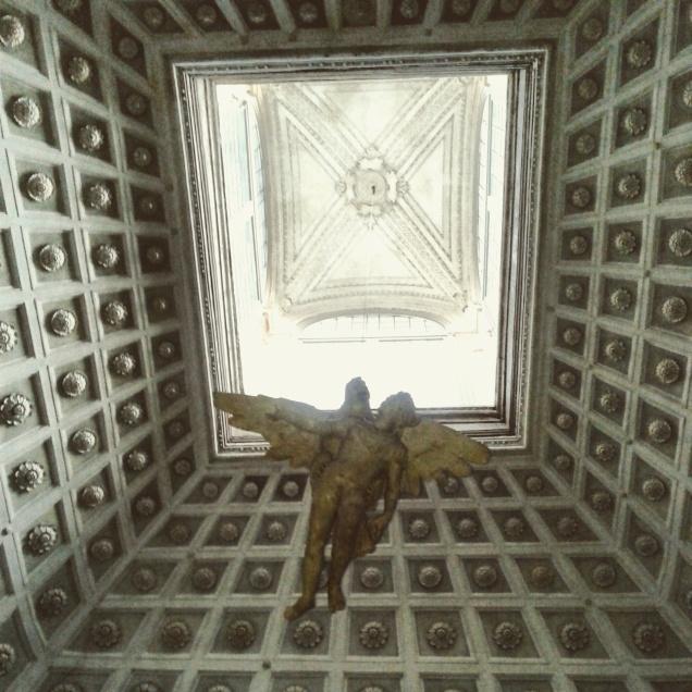 Soffitto con angelo in Palazzo Grimani