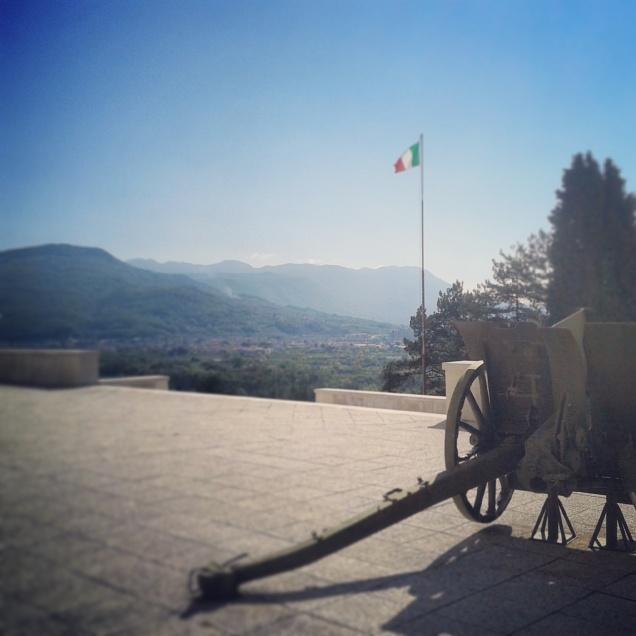 Il panorama dal Sacrario Militare di Oslavia