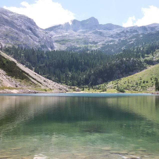 Lo splendido lago del Krn (Monte Nero)