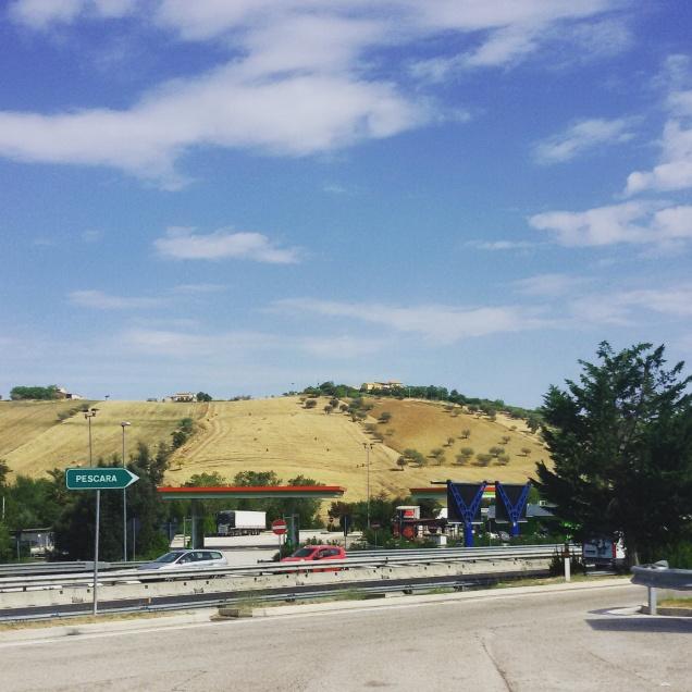 Le colline in prossimità di Pescara