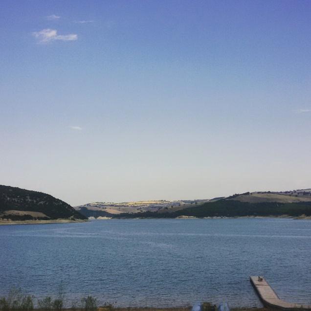 Il pontile del lago di Guardialfiera