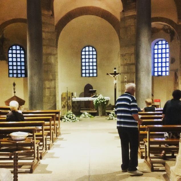 L'interno della chiesa di Santa Sofia