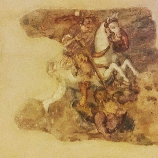 Uno degli affreschi che hanno resistito al tempo