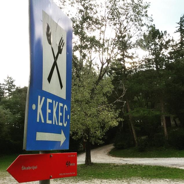 Le indicazioni per Kekec e per il monte San Gabriele
