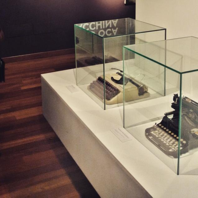 Alcune delle macchine da scrivere esposte