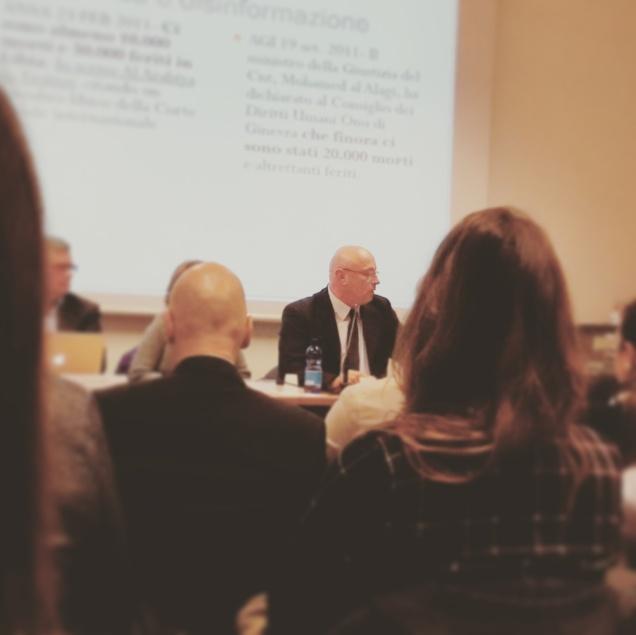 Il Direttore Gianandrea Gaiani durante il suo intervento