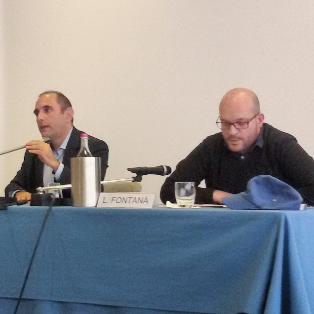 Il prof. Massimo Viglione e l'On. Lorenzo Fontana