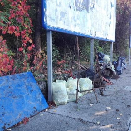 Buona parte dei rifiuti raccolti durante il pomeriggio