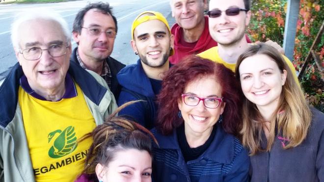Un autoscatto con i volontari di Puliamo il Mondo a Gorizia