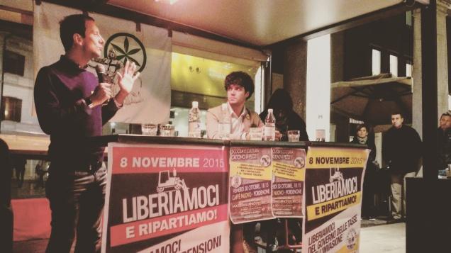 L'On. Massimiliano Fedriga e il vicesegretario Lega Nord FVG, Simone Polesello