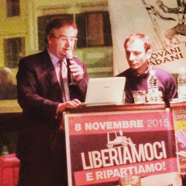 Il prof. Roberto Castenetto e l'On. Massimiliano Fedriga