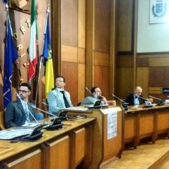 I relatori dell'incontro (da sinistra): Riccardo Cecovini, Ivan Buttignon, Ivan Portelli e Stefano Abrami
