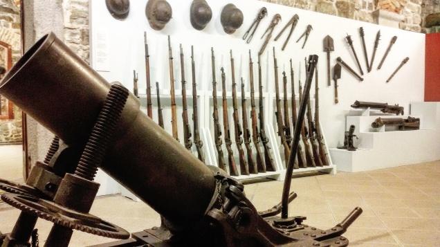 Alcune delle armi esposte