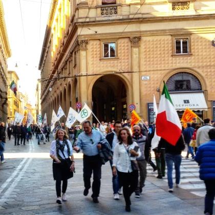 In cammino verso piazza Maggiore
