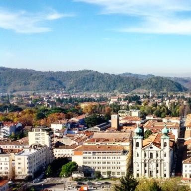 Una veduta panoramica dal borgo castello