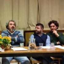 Da sx; Morris Grinovero, Matteo Carzedda e Matteo Iordan