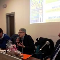 Il Direttore Mario Giordano durante la conferenza