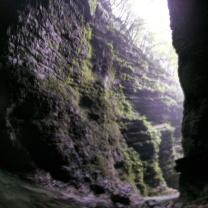 Nei pressi della cascata