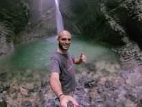 Selfie con cascata Kozjak