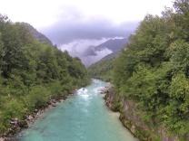 L'Isonzo visto dal ponte sospeso