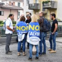 Alcuni militanti di Noi con Salvini