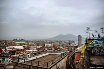 Una foto di Napoli da Corso Vittorio Emanuele