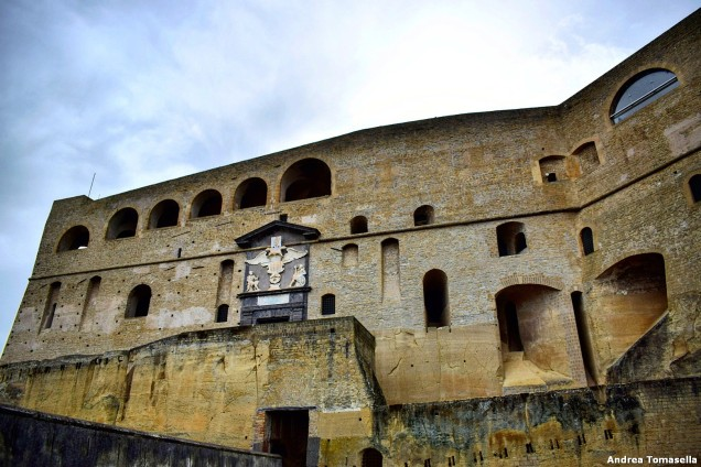 Vista frontale di Castel Sant'Elmo