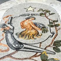 Segno zodiacale acquario Galleria Umberto I