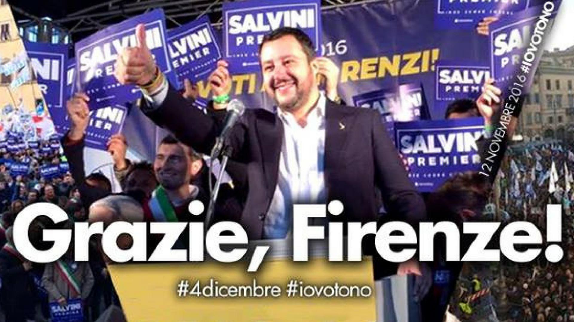Il leader della Lega Nord e Noi con Salvini