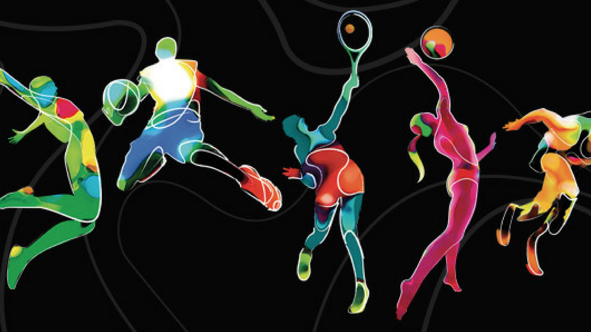 sportivi in azione