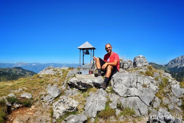 Andrea Tomasella sulla cima del Malvuerich Alto