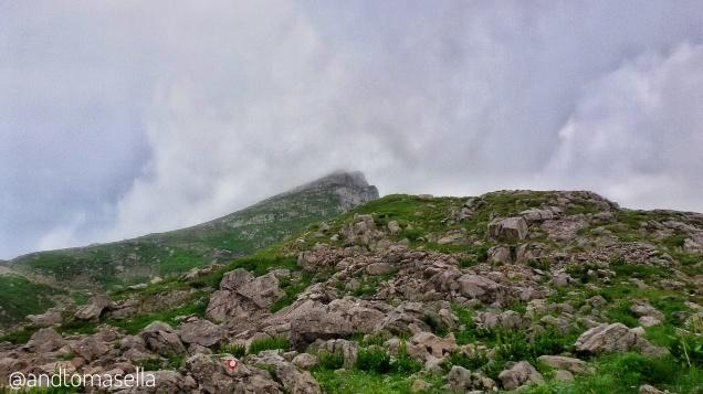 la cima del Monte Nero (Krn)