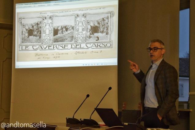marco mantini presenta il suo libro la zona monumentale del monte san michele