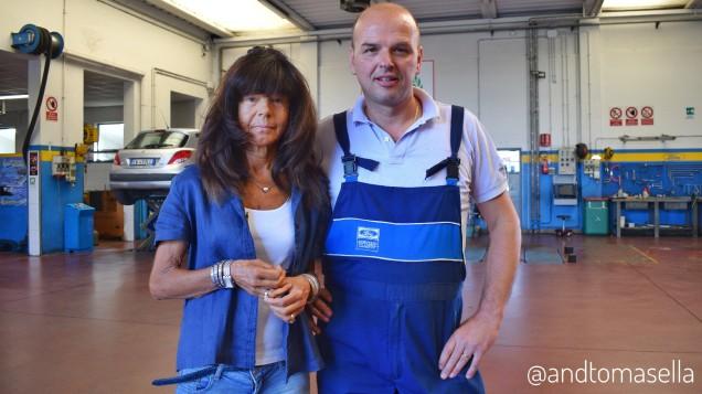 Giuliana Bolzan Roberto De Marchi autofficina De Marchi Romans d'Isonzo