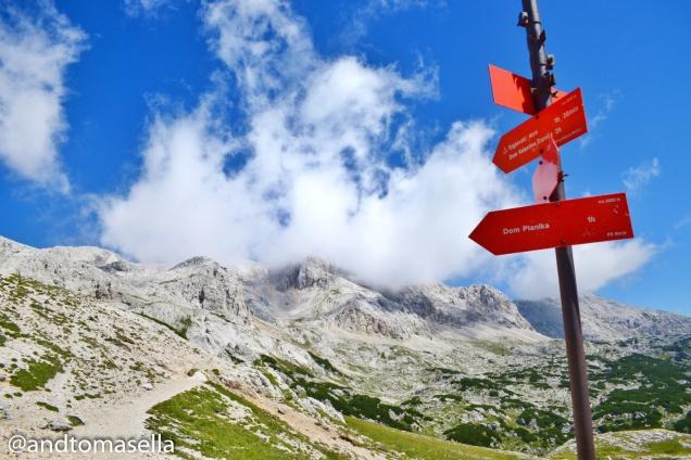cartelli montagna slovena triglav