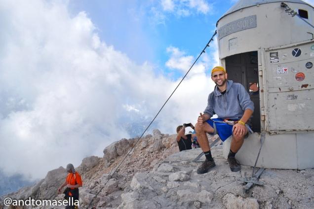 foto sulla cima del triglav