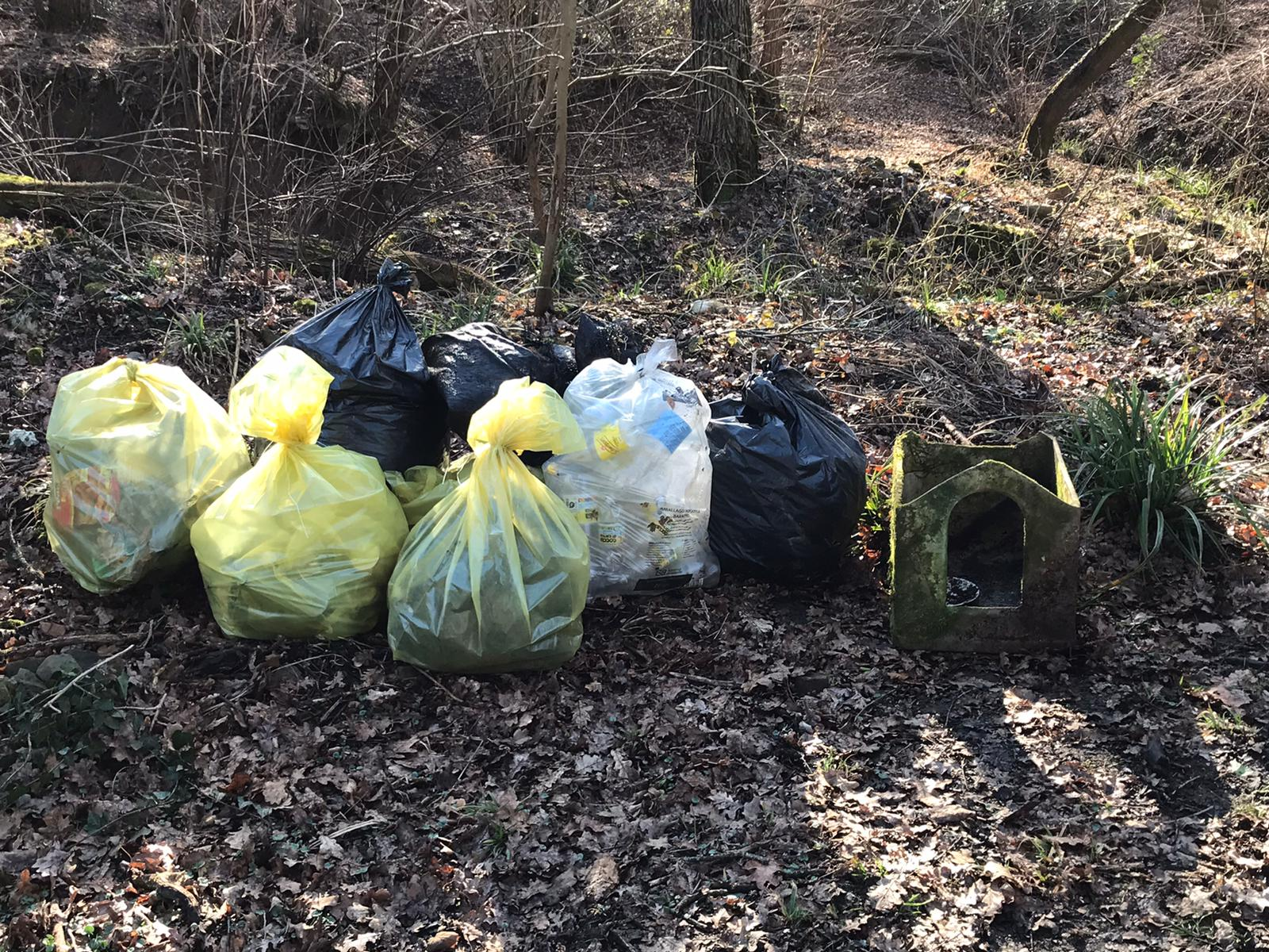 tutti i rifiuti raccolti monte calvario gorizia